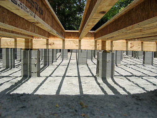 building the house step by step foundations rough in On how to build a crawl space foundation for a house
