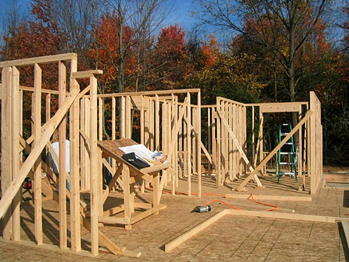 Concrete slabs framing the house for Building a house step by step